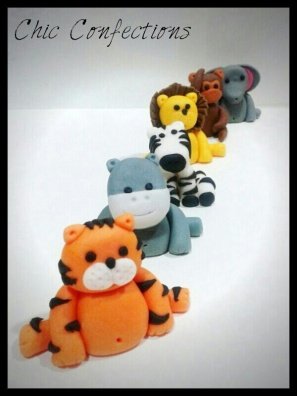 Animal Fondant Toppers