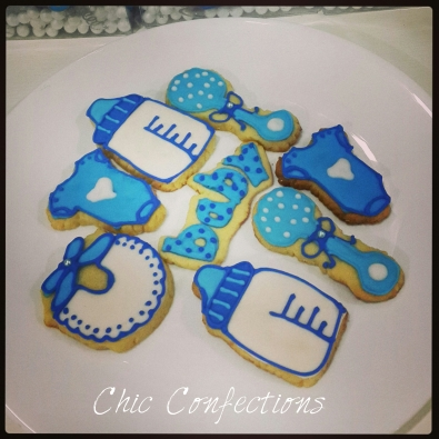 Baby Boy Announcement Cookies