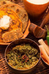 Sarson Da Saag with Makkai ki Roti