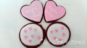 Simple Wedding Favor Cookies