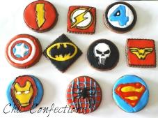 Superhero Theme Cookies