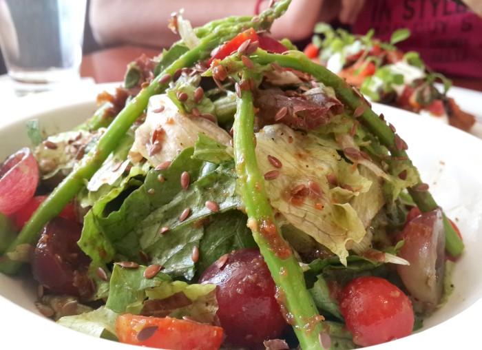Asparagus Salad with Toasted Flax Seeds